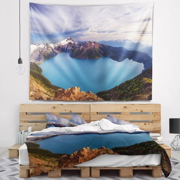 Designart 'Clear Lake with Bright Sky' Landscape Wall Tapestry