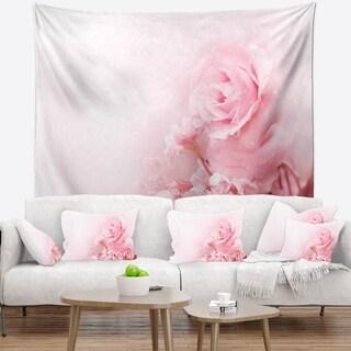 Designart 'Beautiful Rose In Magic Light' Portrait Wall Tapestry