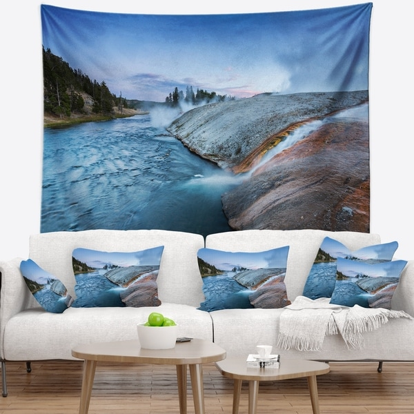 Designart 'Midway Geyser Basin In Yellowstone' Seashore Wall Tapestry