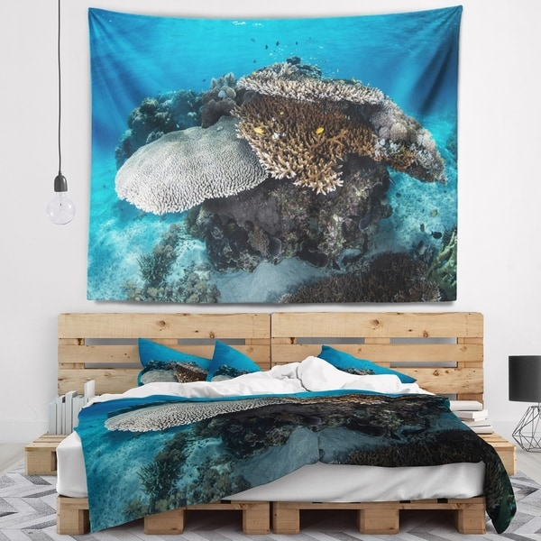 Designart 'Corals and Fish in Komodo National Park' Seashore Wall Tapestry