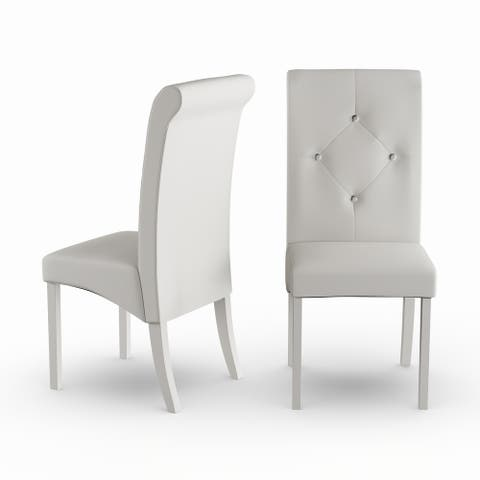 Silver Orchid Heston White Dining Room Chairs (Set of 2)
