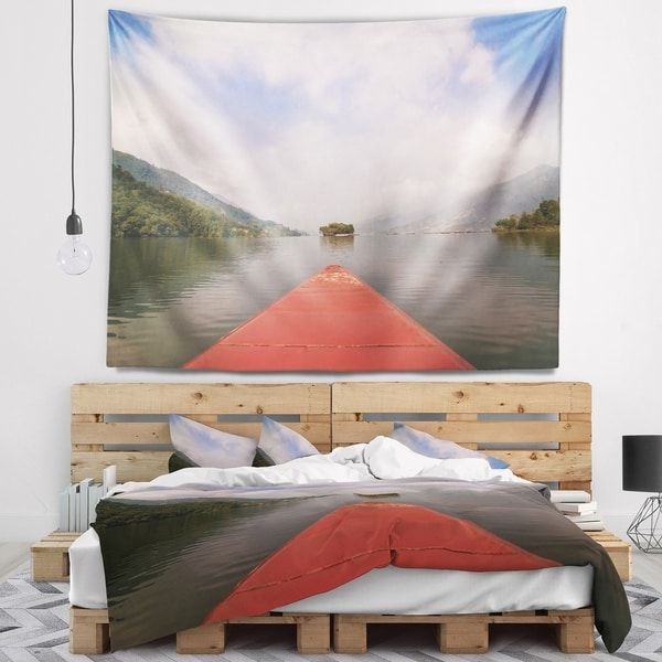 Designart 'Discontinued product' Modern Landscape Wall Tapestry