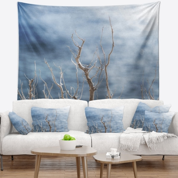 Designart 'Leafless Winter Branches' Landscape Wall Tapestry