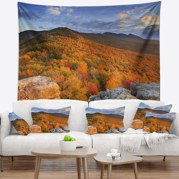Designart 'Endless Forests in the Fall Foliage' Landscape Wall Tapestry