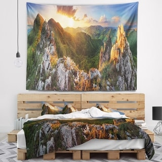 Designart 'Panorama Mountains Slovakia' Landscape Wall Tapestry