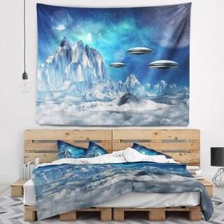 Designart 'Blue Alien Planet' Landscape Wall Tapestry