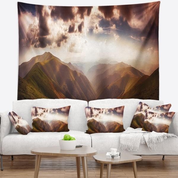 Designart 'Polonina Borzava Panorama' Landscape Wall Tapestry
