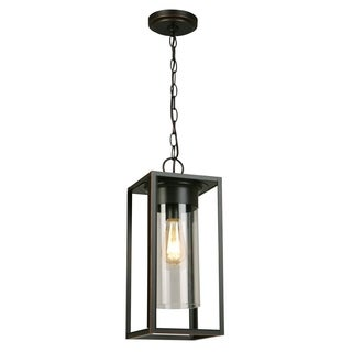 Eglo Walker Hill Outdoor Pendant with Oil Rubbed Bronze Finish and Clear Glass