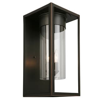 Clearance Eglo Walker Hill Outdoor Wall Light With Matte Black Finish And Clear Gl