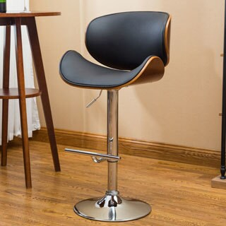 Carson Carrington Sauoarkrokur Modern Adjustable Swivel Barstool