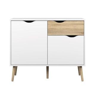 Carson Carrington  Kristiansund Two-tone 3-Drawer Sideboard (White/Oak Structure)