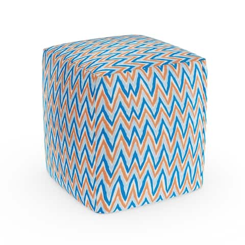 Miami Indoor/ Outdoor Chevron Beanbag Cube by Havenside Home