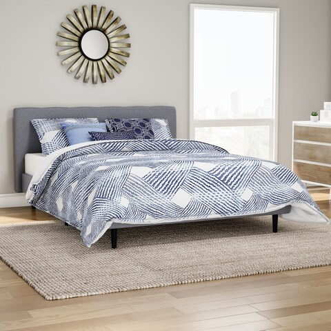 Carson Carrington Sandefjord Blue Luxury Jacquard 6-piece Comforter Set