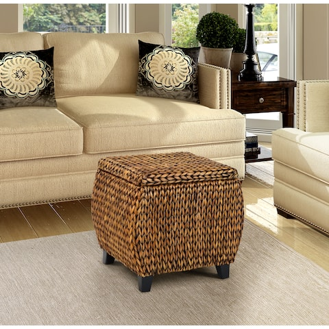 The Curated Nomad Consuelo Round Storage Ottoman