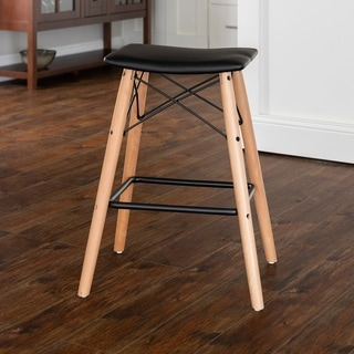 Carson Carrington Fallenas 26-inch Retro Modern Faux Leather Counter Stool - 16 x 12 x 26H