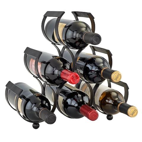 Carbon Loft Alderson Black Cast Iron 6-bottle Wine Rack