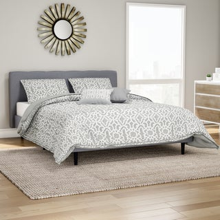 Carson Carrington Bergen 5-piece Printed Microfiber Grey Quilt Set