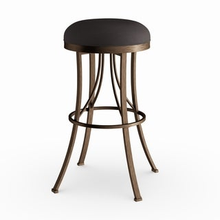 Silver Orchid Grant Champagne Indoor/ Outdoor Backless Swivel Counter Stool