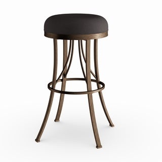 Silver Orchid Grant Champagne Finish Indoor/ Outdoor Backless Swivel Bar Stool