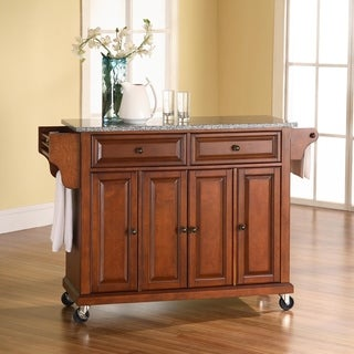Copper Grove Kanha Solid Granite-top Classic Cherry Finish Kitchen Cart/ Island