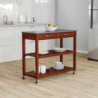 Pine Canopy Gladiolus Solid Granite Top Kitchen Cart/ Island