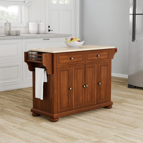Shop Copper Grove Kanha Natural Wood Top Kitchen Island in ...