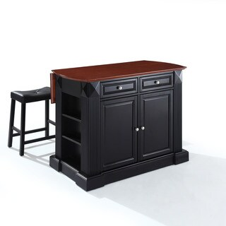 The Gray Barn Tipperary Black Breakfast Bar with Upholstered Stools