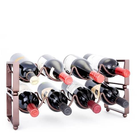 Carson Carrington Haapavesi 4-bottle Antique Bronze Stackable Wine Rack (Set of 2)