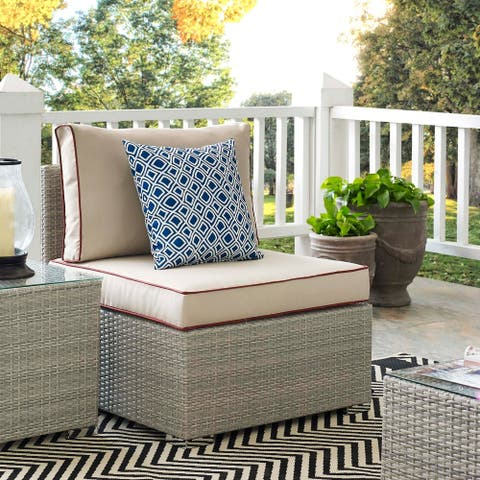 Havenside Home Bocabec Modern Fabric Outdoor Patio Armless Chair