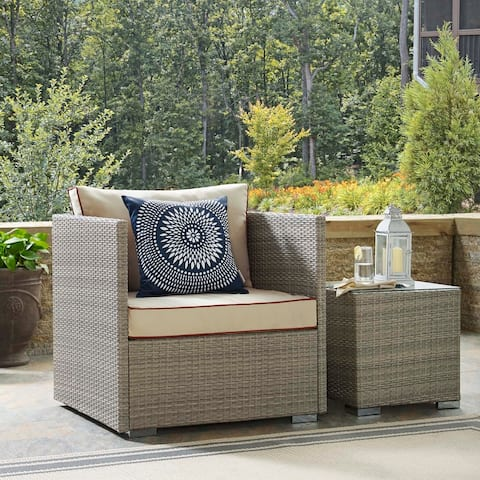 Bocabec Fabric Outdoor Patio Armchair by Havenside Home