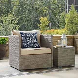 Link to Bocabec Fabric Outdoor Patio Armchair by Havenside Home Similar Items in Outdoor Sofas, Chairs & Sectionals