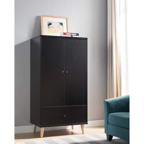 Carson Carrington Gjovik Contemporary Cappuccino 2-door Wardrobe Armoire