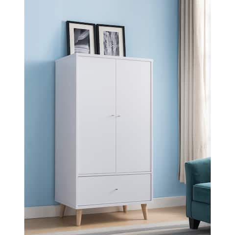 Carson Carrington Gjovik Modern White 2-door Wardrobe Armoire