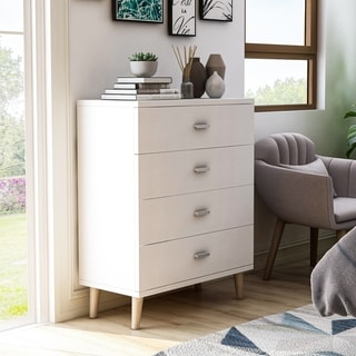 Link to Carson Carrington Gjovik Modern White 4-drawer Chest Similar Items in Dressers & Chests