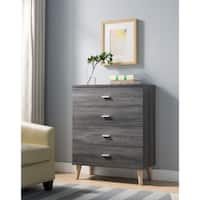 Carson Carrington Gjovik Contemporary Distressed Grey 4-drawer Chest