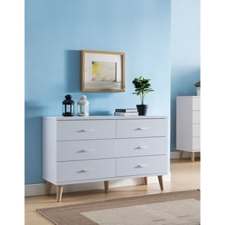 Carson Carrington Gjovik Modern White 6-drawer Dresser