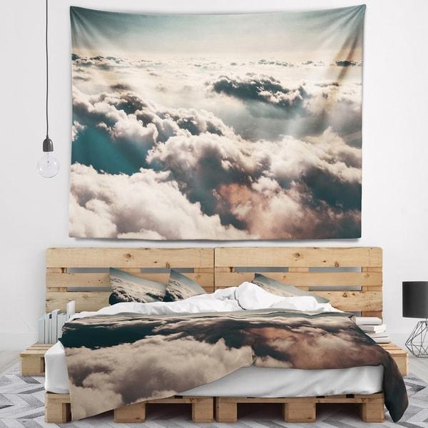 Designart 'Sky above Dark Heavy Clouds' Contemporary Landscape Wall Tapestry