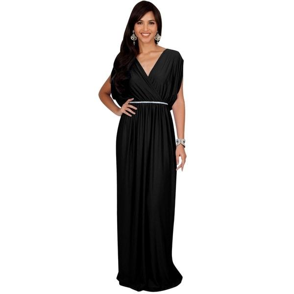 1f44a3a5b7 Shop KOH KOH Womens Elegant Long V Neck Bridesmaid Flowy Maxi ...