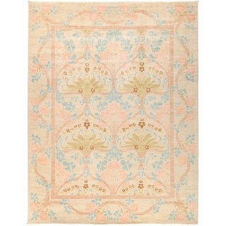 "Arts & Crafts Beige Area Rug - 8' 10"" x 11' 7"""