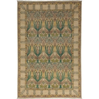 "Arts & Crafts Beige Area Rug - 6' 0"" x 8' 10"""