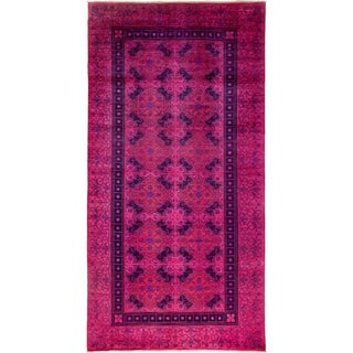 "Vibrance Overdyed Pink Area Rug - 6' 2"" x 12' 1"""
