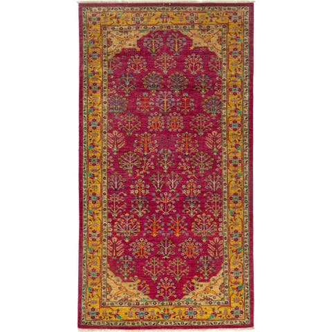 Traditional Oriental Serapi One-of-a-Kind Hand-Knotted Area Rug - 6 x 9