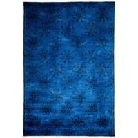 "Vibrance Overdyed Blue Area Rug - 5' 10"" x 8' 7"""