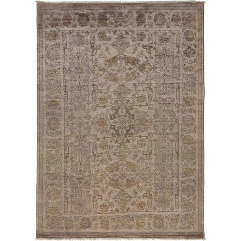Contemporary Transitional One-of-a-Kind Hand-Knotted Area Rug - 5 x 8