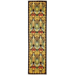 "Arts & Crafts Yellow Runner Rug - 2' 6"" x 9' 8"""