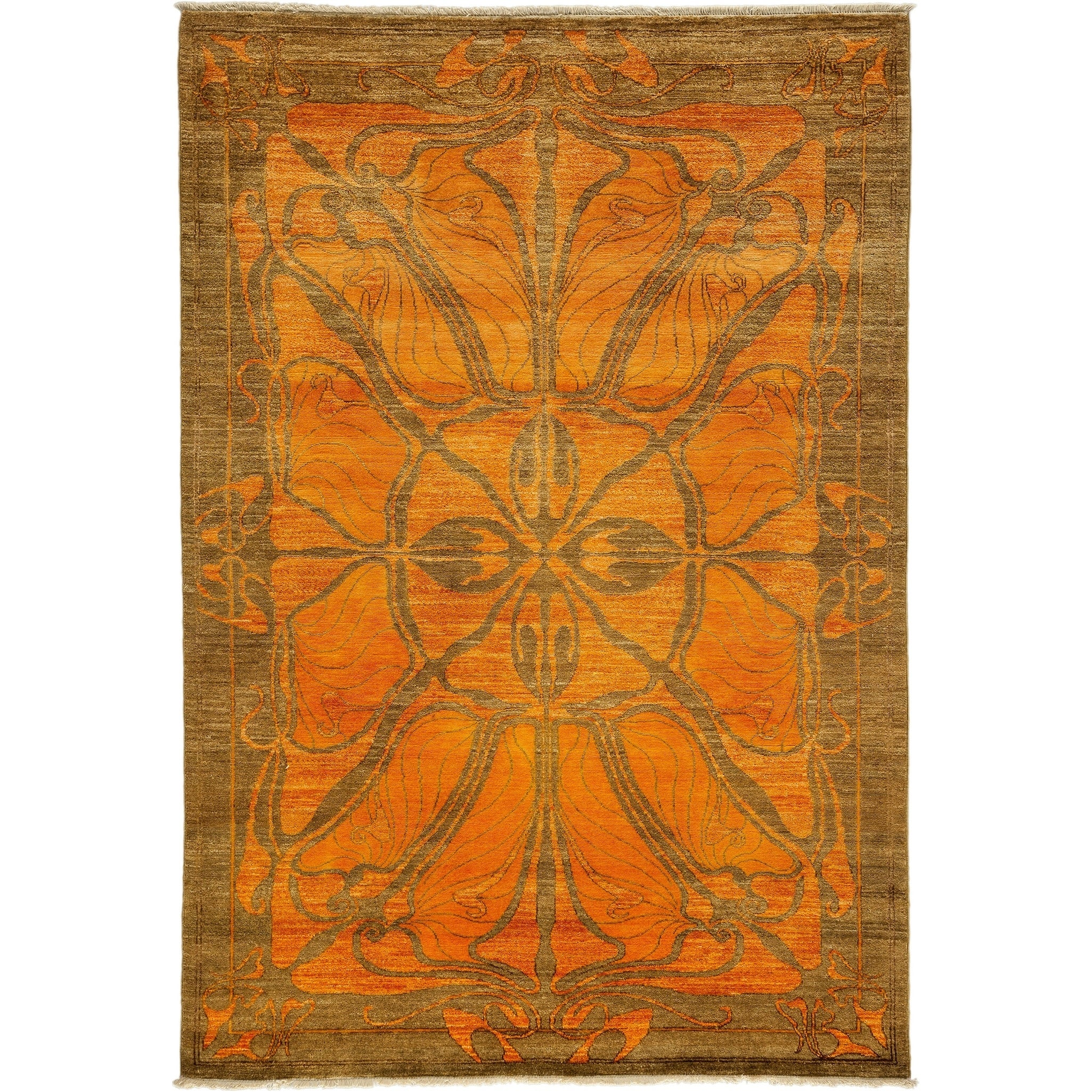 Picture of: Shop Black Friday Deals On Shalimar Modern Yellow Area Rug 5 1 X 7 5 Overstock 20933982