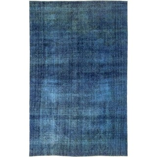 "Vintage Overdyed Blue Area Rug - 7' 5"" x 11' 8"""