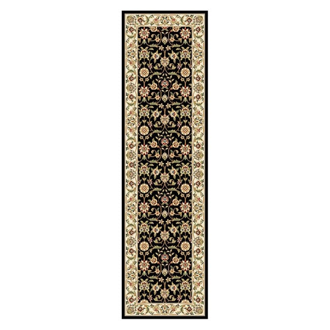 Lyndhurst Collection Traditional Black/ivory Runner Rug (23 X 8) (BlackPattern OrientalMeasures 0.375 inch thickTip We recommend the use of a non skid pad to keep the rug in place on smooth surfaces.All rug sizes are approximate. Due to the difference o