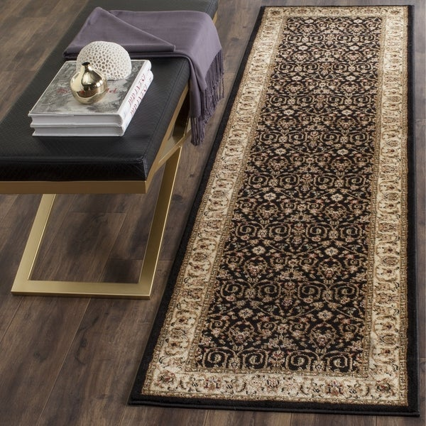 safavieh lyndhurst traditional oriental black ivory runner rug 2 39 3 x 8 39 free shipping today. Black Bedroom Furniture Sets. Home Design Ideas