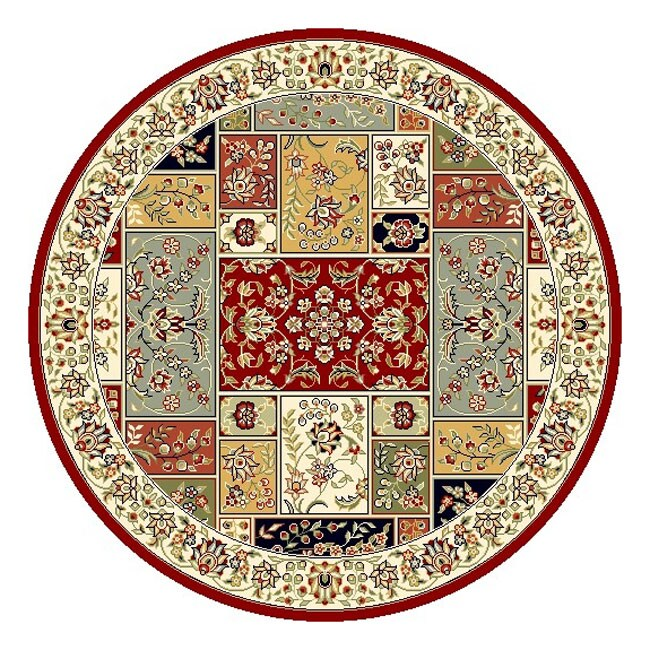 Safavieh Lyndhurst Traditional Oriental Multicolor/ Ivory Rug (5' 3 Round)